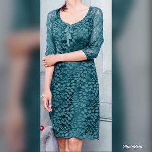 Garnet Hill Emerald Lace Dress